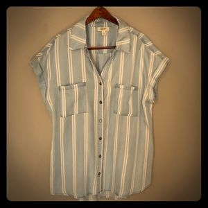 Chambray striped button down
